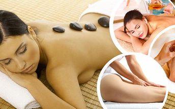 Relaxace v salonu Masáže Eva v centru Plzně!! Antistresová nebo relaxační olejová masáž záda a nohy zezadu, vč. plosek nohou s teplými lávovými kameny, 60 nebo 90 minut odpočinkové masáže s vonnými oleji!!