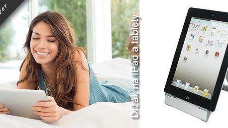 Jednoduchý, ale praktický držák na iPady a tablety. Stojánek je lehký, skladný a snadno nastavitelný. Je tedy ideální na cestování, ale i na domácí využití. Držák umožňuje uložení tabletu v horizontální i vertikální poloze.