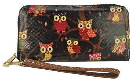 Dámská peněženka Vintage se sovičkami a motýlky - VÝPRODEJ!