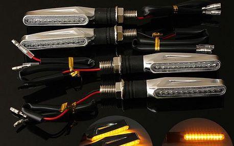 Sada 4 LED blinkrů na motocykly