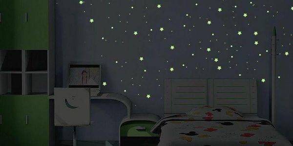 Ve tmě svítící samolepka Milky Way, 240 ks