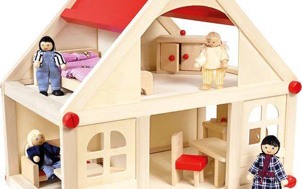 Bino Domeček pro panenky s vybavením střední