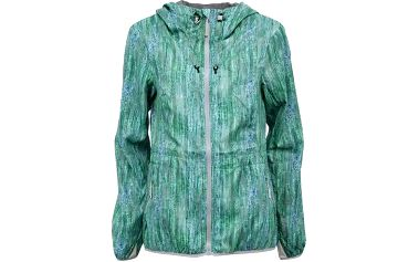 Modro-zelená dámská nepromokavá bunda s kapucí Bench Underqo