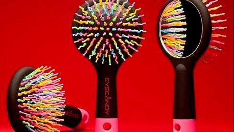 Kvalitní a inovativní kartáč na vlasy se zrcátkem na zadní straně. Poštovné je v ceně!