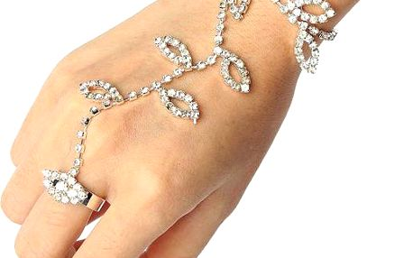 Slavnostní šperk na ruku s kamínky