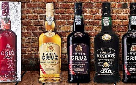 Luxusní portská vína Porto Cruz z Portugalska