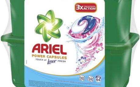 Ariel Touch of Lenor tekuté tablety 2 x 32 ks
