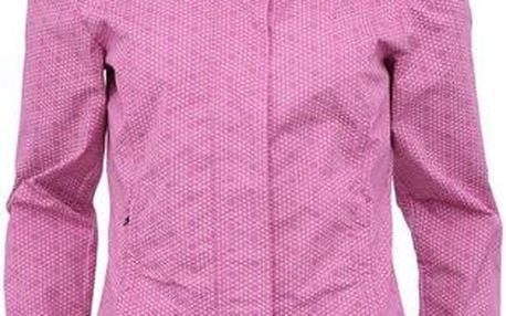Růžová dámská vzorovaná bunda s vysokým límcem Bench Free