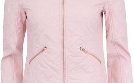 Světle růžová bunda se zipy Noisy May Rosa