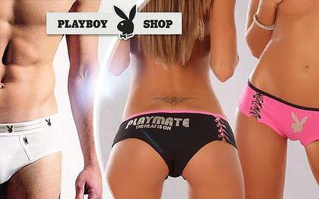 Rozverné Playboy spodní prádlo. 3ks dámské kalhotky nebo 3ks pánské slipy v balení.