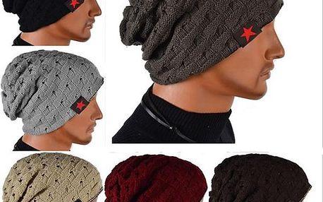 Unisex oboustranná zimní čepice