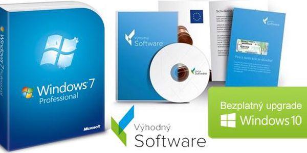 Windows 7 Professional s bezplatným upgradem na desítky vč. poštovného! 32-bit či 64-bit DVD + certifikát pravosti!