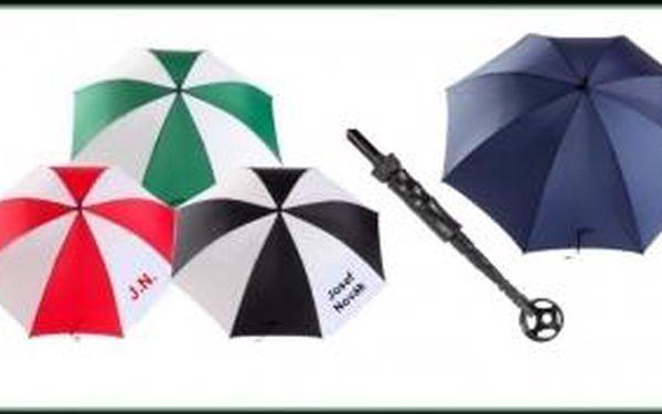 Vítejte v 21. století. Získejte golfový deštník á la James Bond. Golfový deštník s integrovaným teleskopickým lovítkem si získá nejednoho náročného golfistu, možnost vlastního potisku.