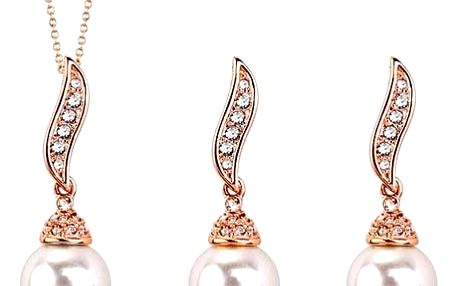 Sada šperků s umělými perličkami