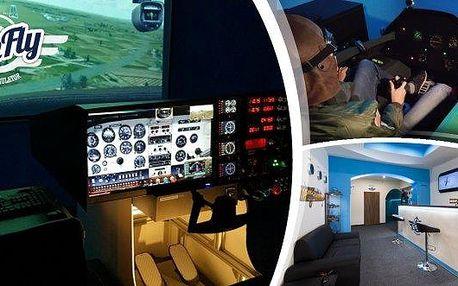 Zážitek na profesionálníchleteckých simulátorechv centru Prahy - 40 minut letu - s občerstvením, nealko nápoji a pamětní fotografií! Čeká vásinstruktáž, vyberete si svůj typ letadla a pak už 40 minut čistého času letíte a jste v kůži pilota!