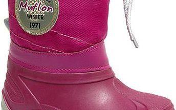 Ren But Dívčí sněhule se šněrováním - šedo-růžové