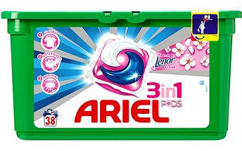 Ariel Active gel Touch od Lenor fresh 38 ks