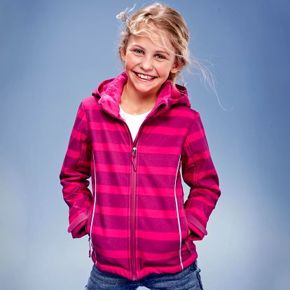 Tchibo, Softshellová bunda, růžový proužek 146/152