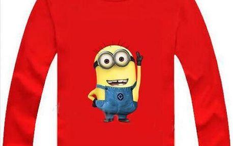 Dětské tričko s dlouhým rukávem Mimoň!
