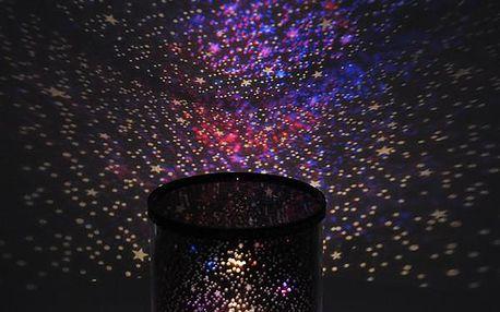 Hvězdný světelný LED projektor - různá barevná podsvícení