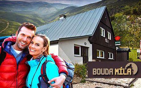 Zimní dovolená v Krkonoších v horské boudě Míla pro dva s polopenzí. Platnost kuponu až do března 2016!