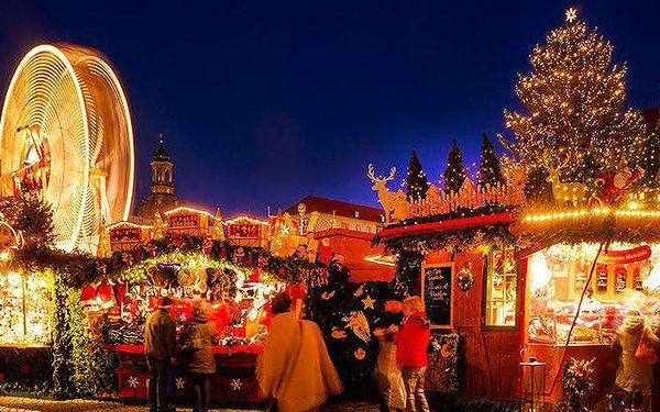 Celodenní výlet za vánočními trhy a nákupy v Drážďanech pro 1 osobu