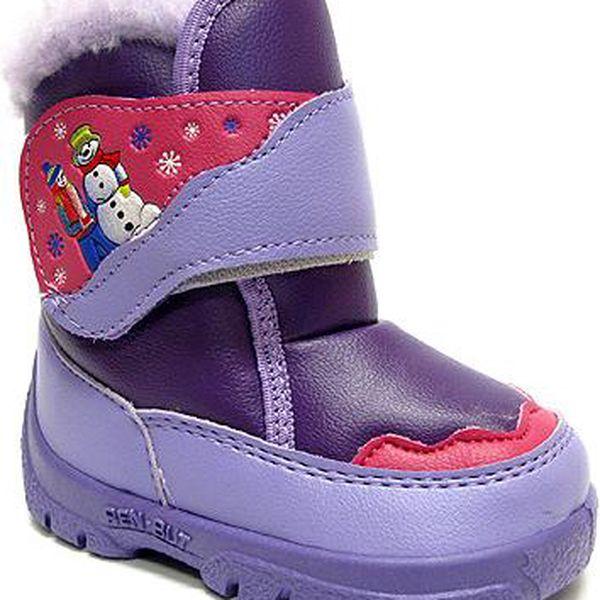 Ren But Dívčí sněhule se suchým zipem - fialové