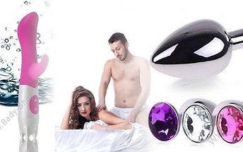 Erotické pomůcky, vybírejte co Vám padne do oka i do ruky. Anální šperk nebo luxusní a výkonný vibrátor G-Spot Dual se 7 různými vibracemi! Odvážný dárek pro partnera! Zažijte novou rozkoš a intenzivní milování!