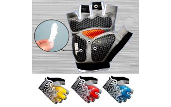 Cyklistické rukavice s gelovými polštářky - 3 barvy