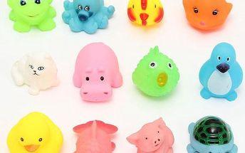 12 gumových hraček do vany