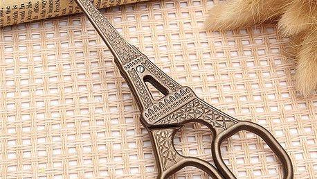 Vintage nůžky s motivem Eiffelovy věže