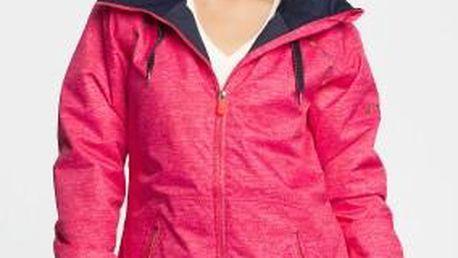 Roxy - Snowboardová bunda Valley Hoodie - sytě růžová, XS