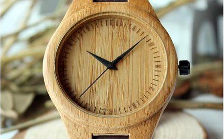 Dřevěné náramkové hodinky Woody!