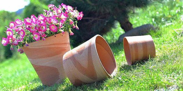 Mrazuvzdorné ručně vyráběné květináče…