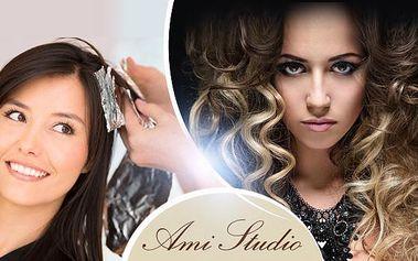 Kadeřnický balíček pro všechny délky vlasů! Mytí, střih konečků + barvení vlasů klasicky či metodou ombré hair!