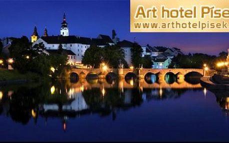 Jarní Písek - Art Hotel*** - 2 noci s chutnou polopenzí pro 2