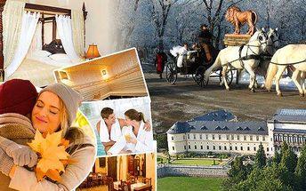 Královský luxus - pobyt pro 2 osoby na 3 dny v romantickém 5* Chateau hotelu Zbiroh v malebné krajině křivoklátských lesů. Snídaně v zámecké krčmě, prohlídka zámku, privátní wellness centrum a sleva na masáže! Buďte jako v pohádce - jen 20 min. od Prahy!
