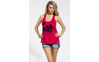 Roxy - Top Coco Hot Tank - sytě růžová, M