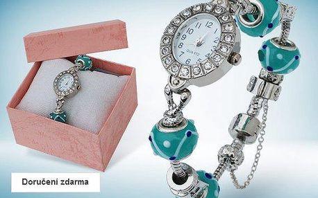 Dámské hodinky s krystaly a přívěsky