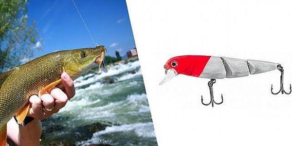 Třídílný plovoucí wobbler FISHING PRO CUSTOM RDST3 v délce 75 mm pro lov dravců!