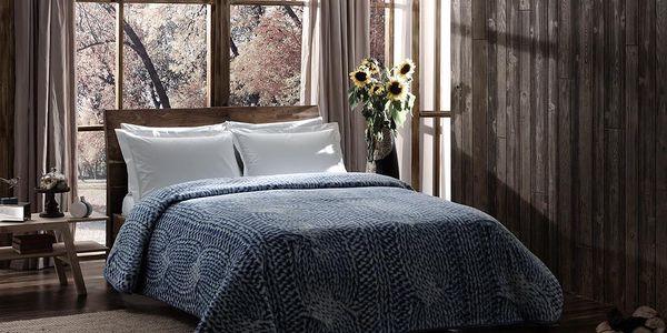 Deka Blue Knit, 150x200 cm - doprava zdarma!