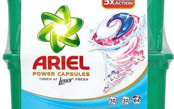 Ariel Power capsules touch of lenor fresh gelové kapsle na praní prádla 64 praní 64 x 28,8 g