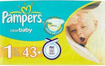Pampers New Baby Pleny 1 Newborn 43 ks