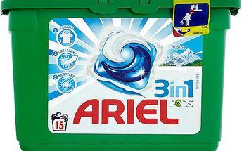 Ariel 3in1 alpine gelové kapsle na praní prádla 15 praní 15 x 28,8 g