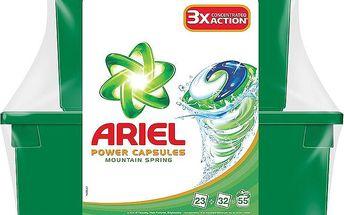 Ariel Power capsules mountain spring gelové kapsle na praní prádla 55 praní 55 x 28,8 g