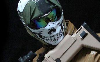Ochranná maska na obličej motiv lebka