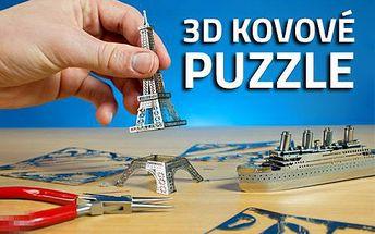 3D kovové puzzle!! Precizní stavebnice!! 7 modelů!!