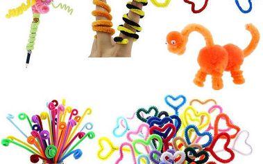 Flexibilní plyšové tyčinky pro výrobu hraček a ozdob