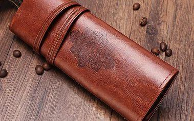 Kožený vintage penál