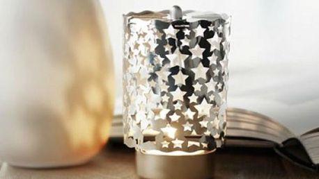 Vánoční lampa na svíčku s hvězdičkami!